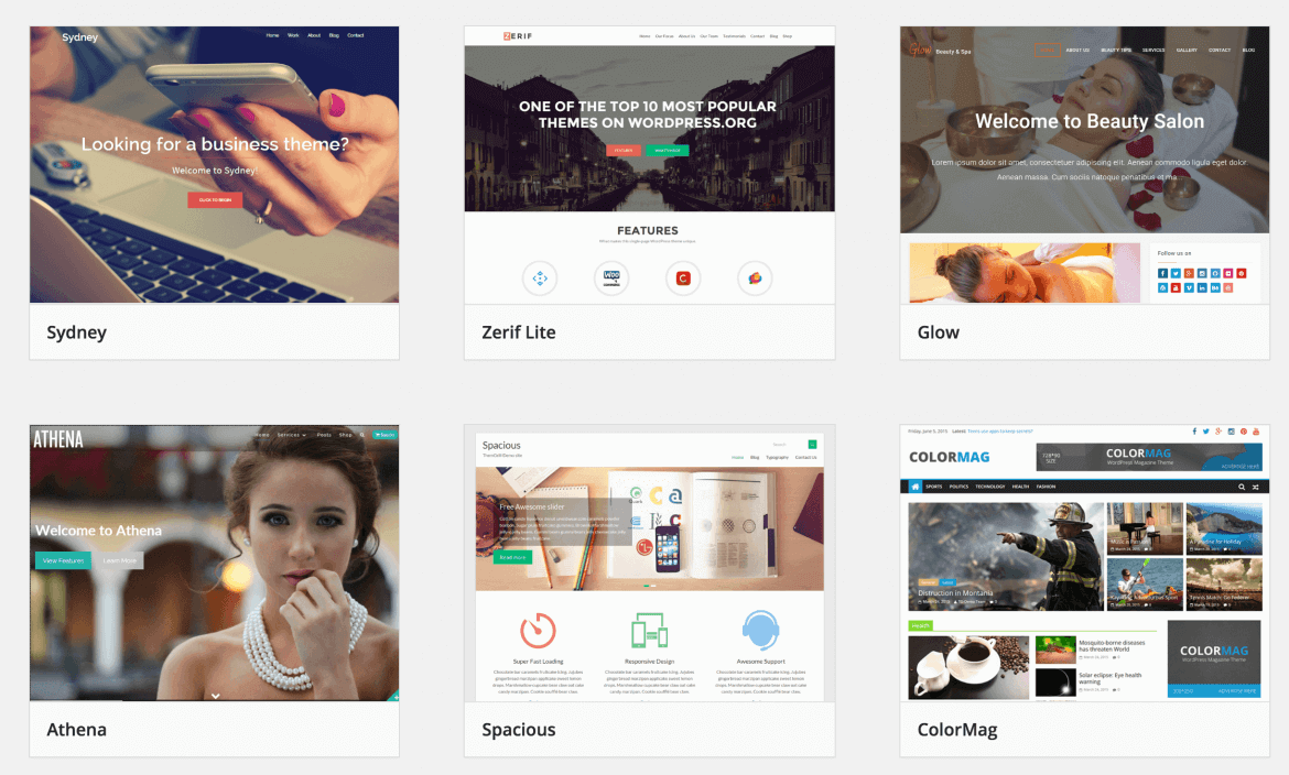 Wordpress Website Design Themes