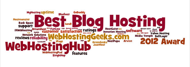 Award for the Best Blog Hosting