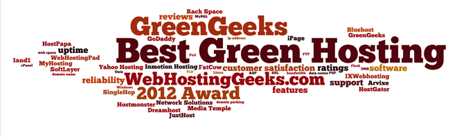 Award for the Best Green Hosting