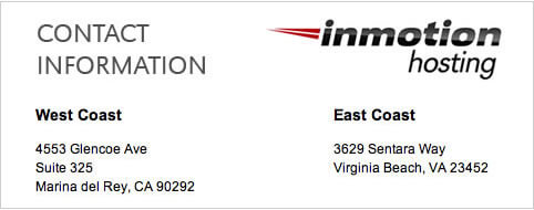 inmotion hosting contact information