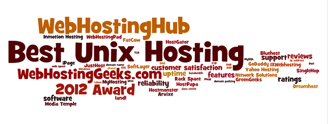 Award for the Best Unix Hosting