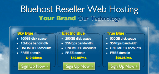 Bluehost Reseller Hosting Plans