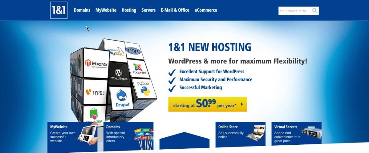 1&1 Launches WordPress Optimized Hosting