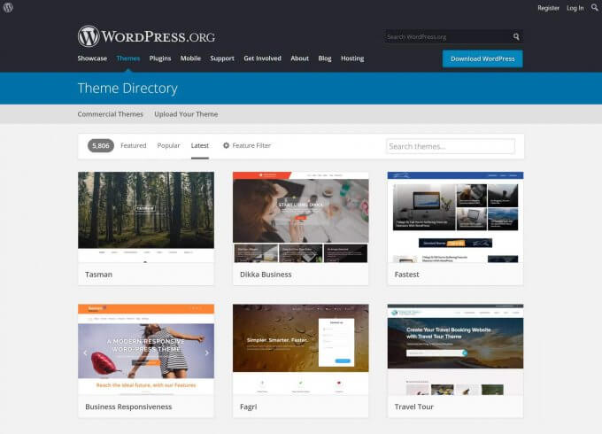 WordPress.org Blog Themes